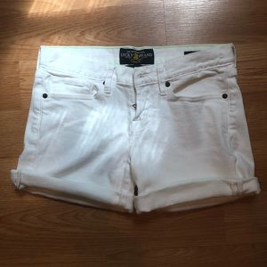 Lucky Brand white Jean abbey shorts size 0/25